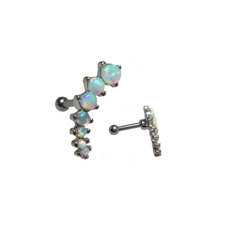 Opalite Cascade Helix Ear Bar Right