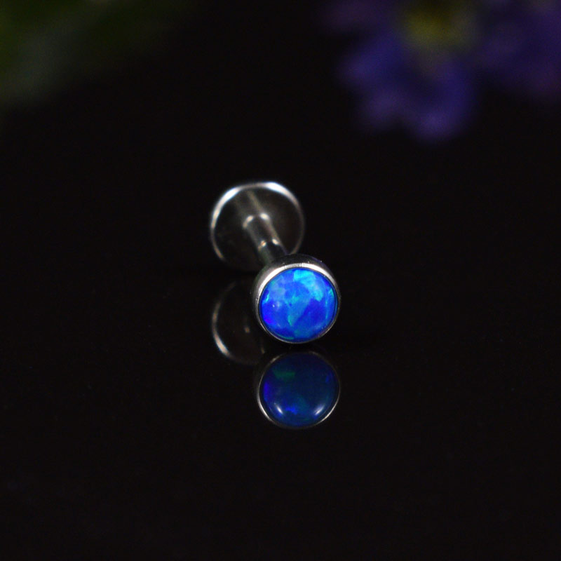 Labret with Blue Opalite Stone