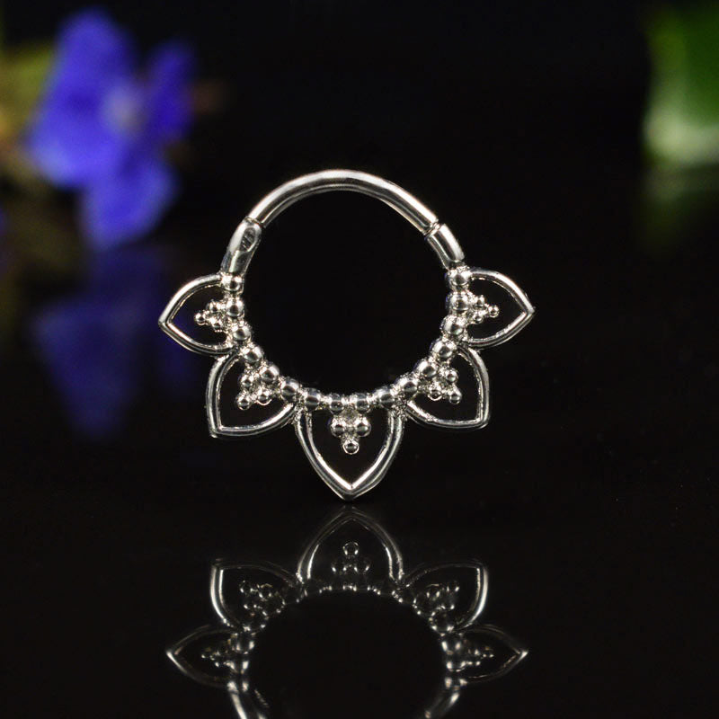 Hinged Segment Ring Tribal Petals