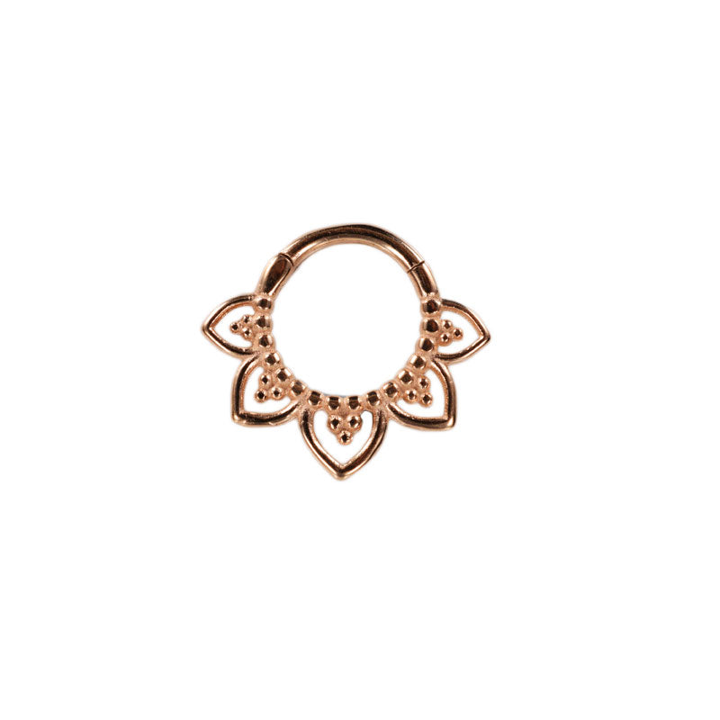 Hinged Segment Ring 'Tribal Petals' in Rose Gold