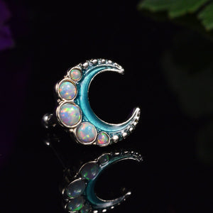 Opal Crescent Moon Ear Bar