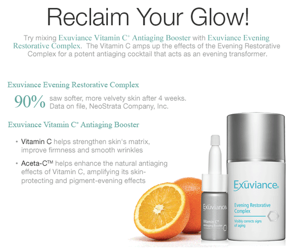 Exuviance Vitamin C+ Antiaging Booster & Evening Restorative Complex