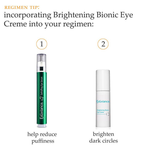 Exuviance DePuffing Eye Serum + Brightening Bionic Eye Cream PLUS