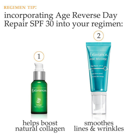 Exuviance Collagen Triple Boost Serum & Age Reverse Day Repair SPF 30