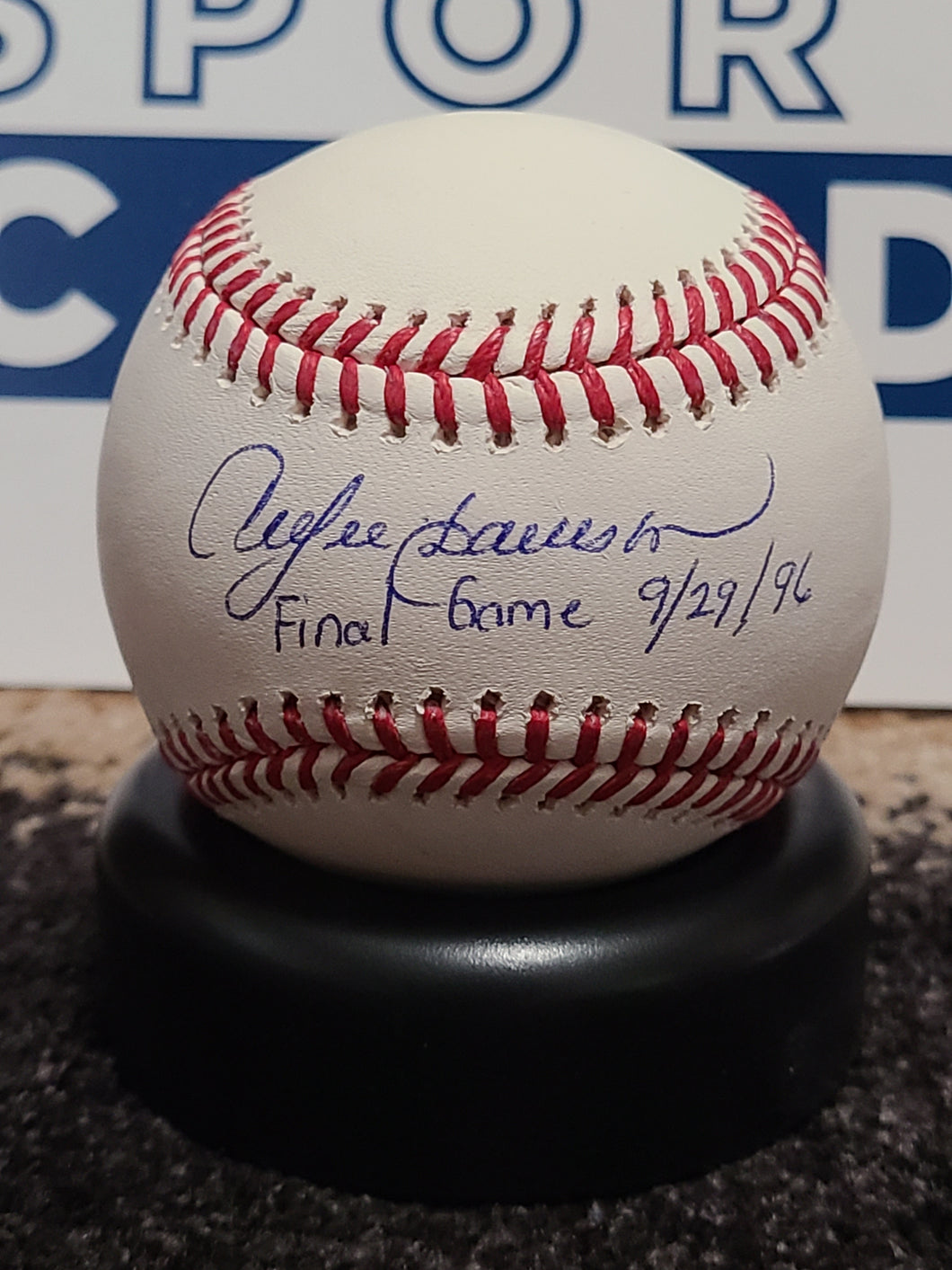 Andre Dawson Signed Baseball (TriStar COA) Serial #'d 1/6 w/ Final Game Inscription