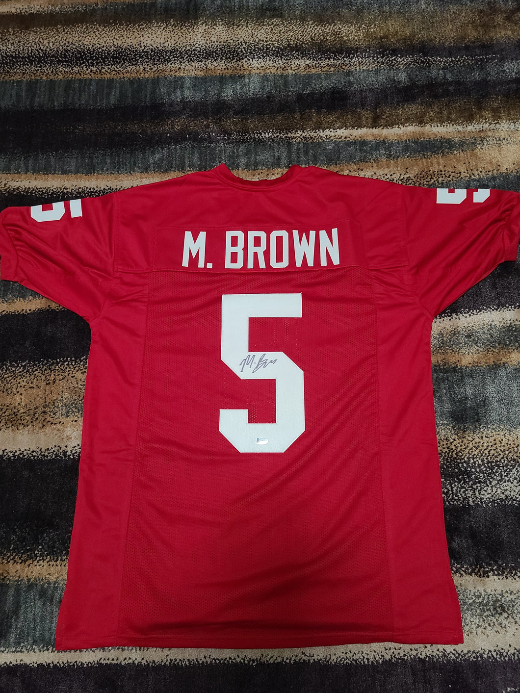 Marquise Brown Signed Custom Oklahoma Sooners Jersey (Beckett Cert.)