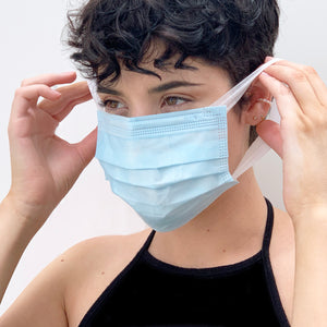 DISPOSABLE FACE MASK (FABRIC EAR LOBE)