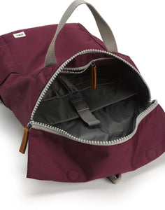 ROKA Sustainable Rucksack, Plum
