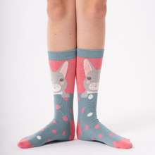 Load image into Gallery viewer, Bamboo Socks - Bunny Pink