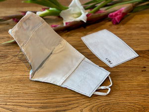 Adult face mask with filter pocket and filters