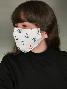 Adult Unisex face mask with filter pocket and filters