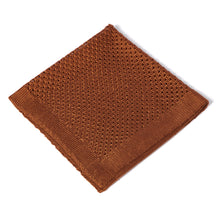 Load image into Gallery viewer, Brown Knitted Pocket Square
