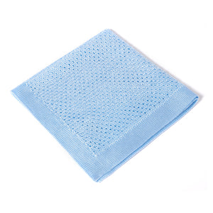 Light Blue Knitted Pocket Square