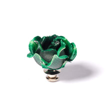 Load image into Gallery viewer, Medium Green Rose Pin for Jacket