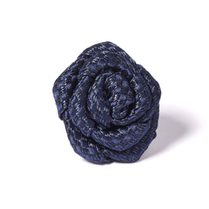 Dark Blue Rose Pin for Jacket