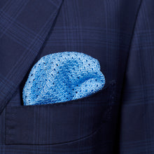 Load image into Gallery viewer, Light Blue Knitted Pocket Square