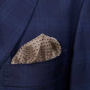 Beige Knitted Pocket Square