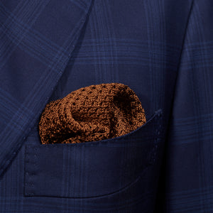 Brown Knitted Pocket Square