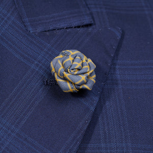 Grey Rose Pin with Yellow Stripe for Jacket
