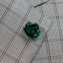 Load image into Gallery viewer, Dark Green Rose Pin for Jacket