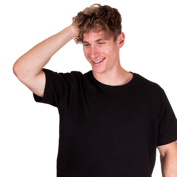 black t-shirt no sweat stains sweat-proof social citizen underarm