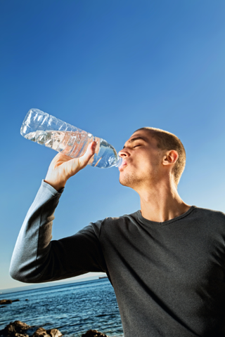 hydrate sweat stains drink water regulate temperature
