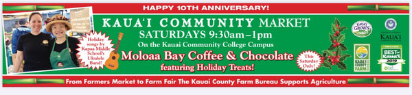 Kaua'i Community Market Holiday Fair - Saturday December 7