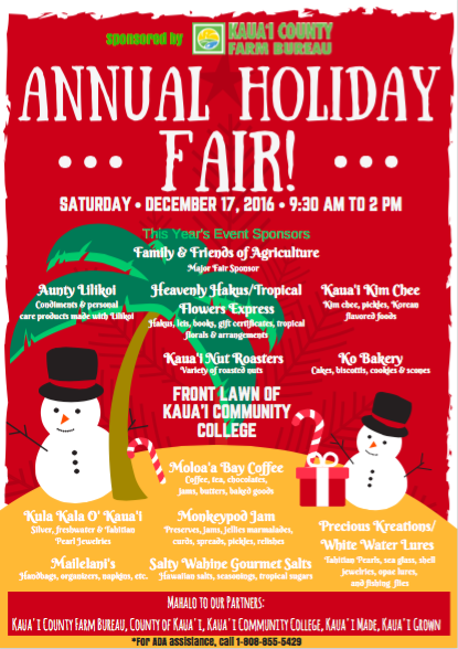 2016 Annual Holiday Fair at Kaua'i Community College