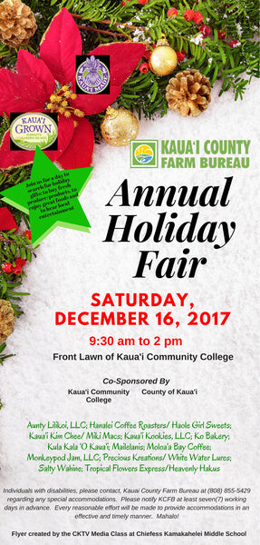 2017 Annual Holiday Fair at Kaua'i Community College