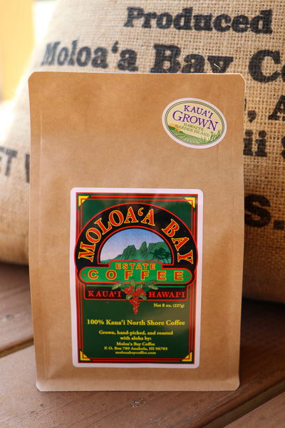Moloaʻa Bay Coffee Traditional Roast - 8 oz bag