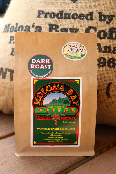 Moloaʻa Bay Coffee Dark Roast - 8 oz bag