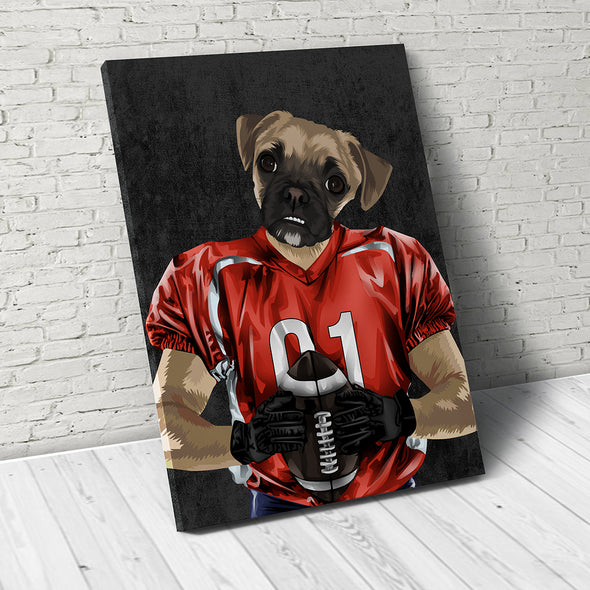 The Athlete  - Custom Pet Canvas