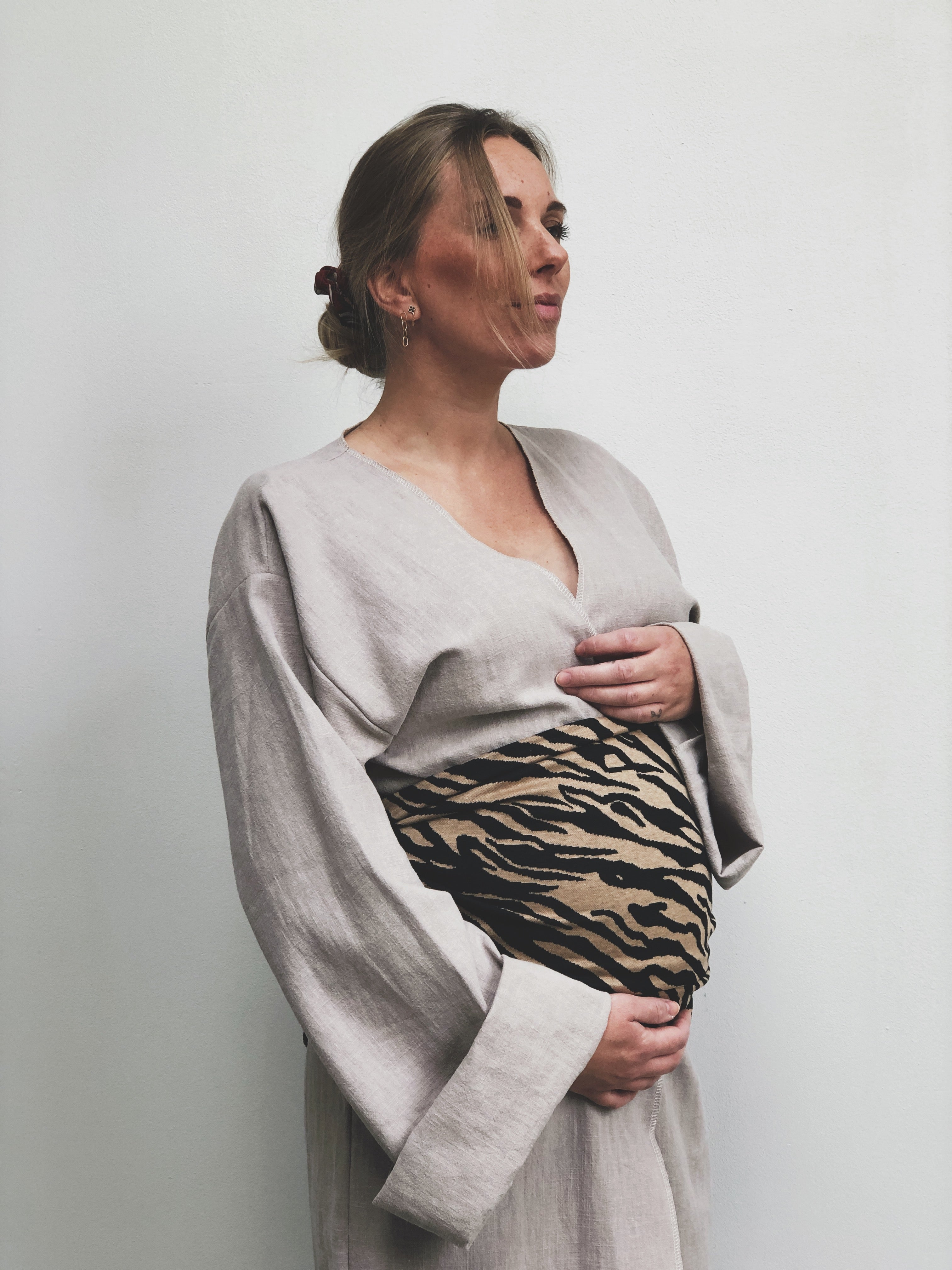 Handmade cotton belly wrap - The Seed