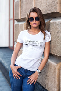 AWESOME- Women's V Neck Tee