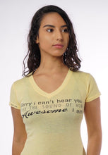 Load image into Gallery viewer, AWESOME- Women's V Neck Tee