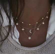 Load image into Gallery viewer, Boho Multi-element Moon Stars Astrology Crystal Necklaces For Women