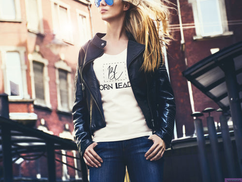 BORN LEADER - WOMENS VNECK TEE