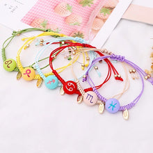 Load image into Gallery viewer, Colorful Zodiac String Bracelet