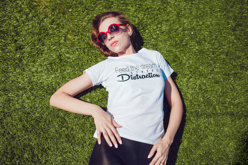 FEED THE DREAM - WOMENS V NECK TEE