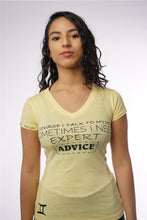 Load image into Gallery viewer, EXPERT ADVICE - WOMENS V NECK TEE