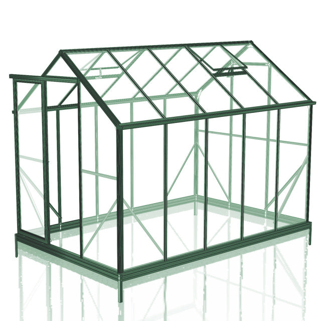 GREENHOUSE 6X10 SINGLE DOOR GLASS