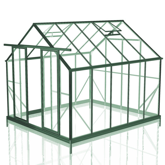 GREENHOUSE 8X10 DOUBLE DOOR POLY CARBONATE