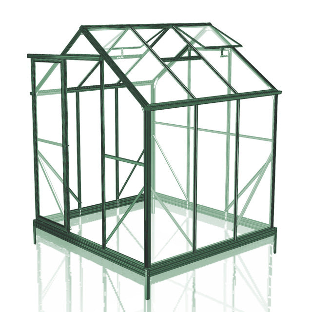 GREENHOUSE 6X6 SINGLE DOOR POLY CARBONATE
