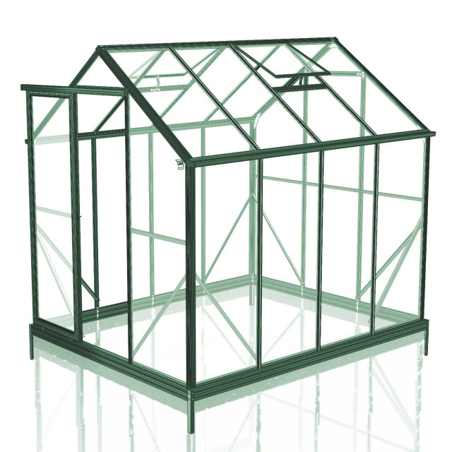 GREENHOUSE 6X8 SINGLE DOOR POLY CARBONATE