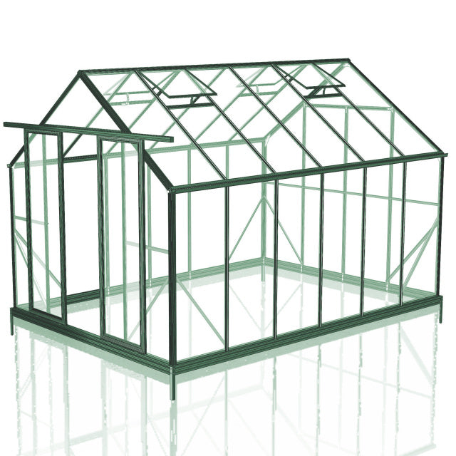 GREENHOUSE 8X12 DOUBLE DOOR POLY CARBONATE