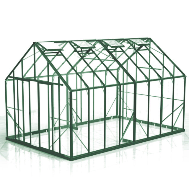 GREENHOUSE 10X16 DOUBLE DOOR GLASS