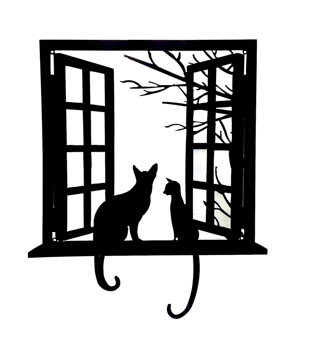 CAT WALL ART METAL CUT OUT