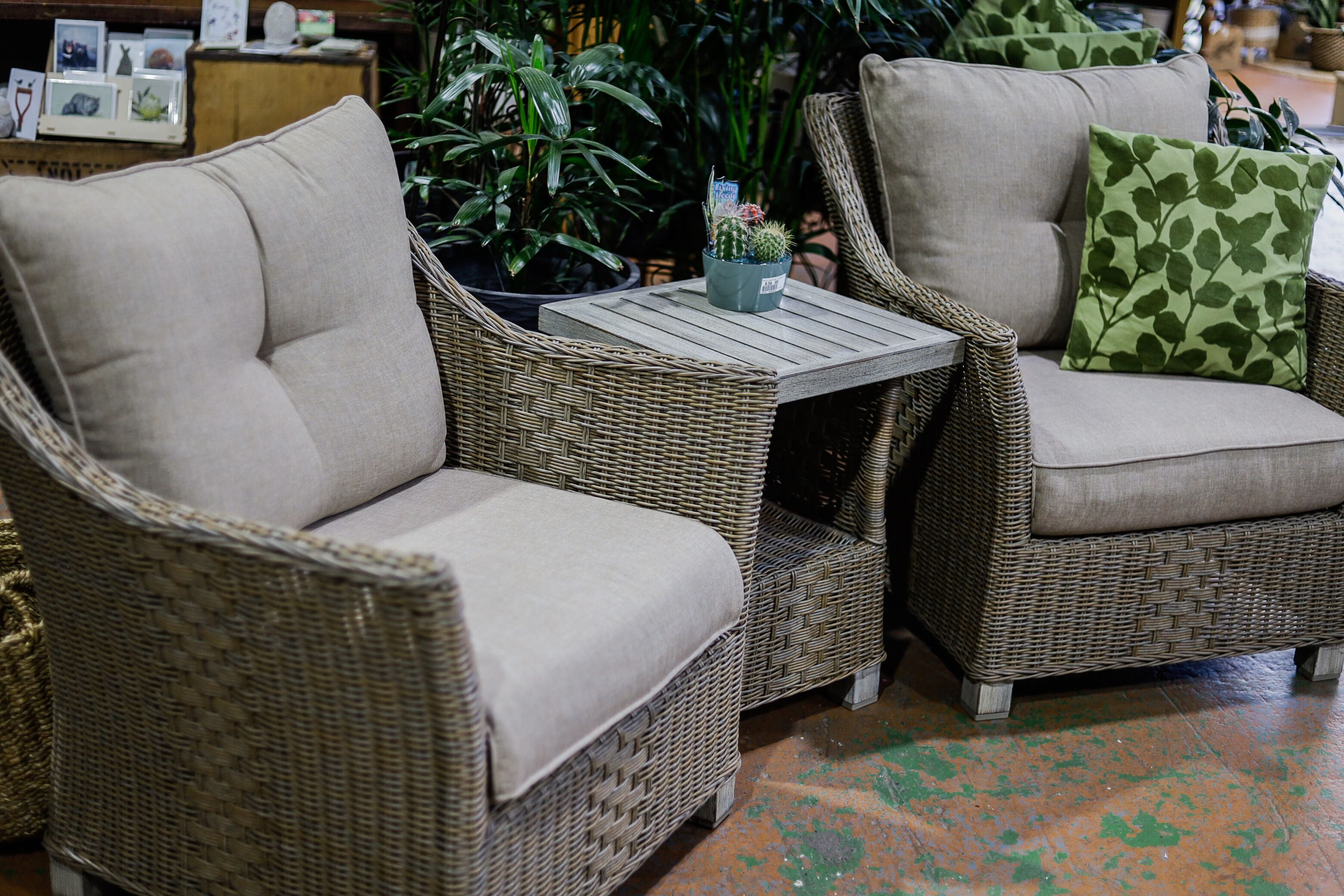 INDO WICKER 3 PIECE LOUNGE SET
