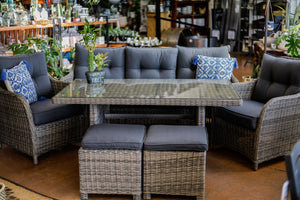 RICHMOND WICKER DINING / LOUNGE SET