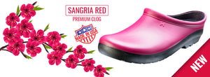 SLOGGERS PREMIUM SHOE WOMENS SANGRIA RED SIZE 8